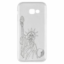 Чохол для Samsung A5 2017 Statue of Liberty with a medical mask