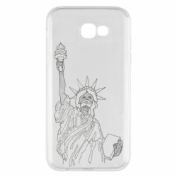 Чохол для Samsung A7 2017 Statue of Liberty with a medical mask