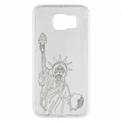 Чохол для Samsung S6 Statue of Liberty with a medical mask