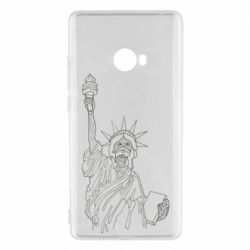 Чехол для Xiaomi Mi Note 2 Statue of Liberty with a medical mask