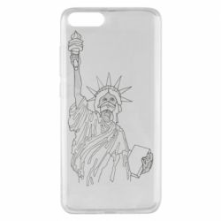 Чехол для Xiaomi Mi Note 3 Statue of Liberty with a medical mask