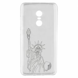 Чехол для Xiaomi Redmi Note 4 Statue of Liberty with a medical mask