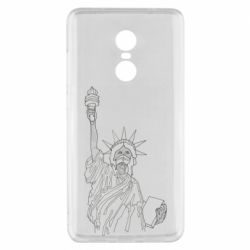 Чехол для Xiaomi Redmi Note 4x Statue of Liberty with a medical mask