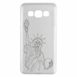 Чохол для Samsung A3 2015 Statue of Liberty with a medical mask