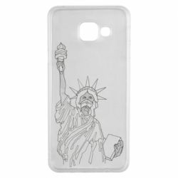 Чохол для Samsung A3 2016 Statue of Liberty with a medical mask