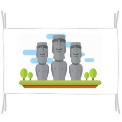 Прапор Statues on easter island