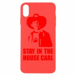 Чехол для iPhone Xs Max Stay in the house Carl