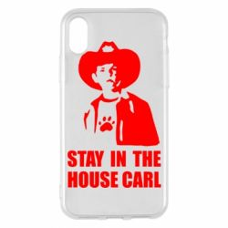 Чехол для iPhone X/Xs Stay in the house Carl