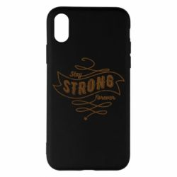 Чохол для iPhone X/Xs Stay strong forever