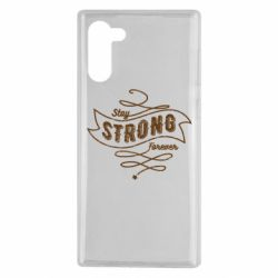 Чохол для Samsung Note 10 Stay strong forever