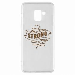 Чохол для Samsung A8+ 2018 Stay strong forever