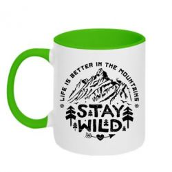 Кружка двухцветная Stay Wild
