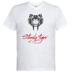 Чоловіча футболка з V-подібним вирізом Steady tiger