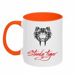 Кружка двоколірна 320ml Steady tiger