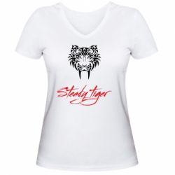Жіноча футболка з V-подібним вирізом Steady tiger