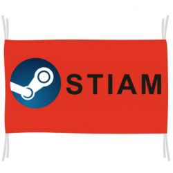 Флаг Steam logo