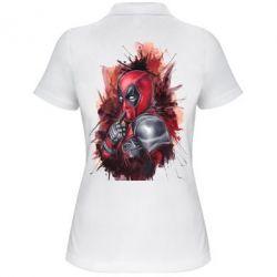 Женская футболка поло Стесняшка Deadpool - FatLine