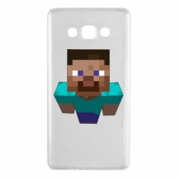 Чехол для Samsung A7 2015 Steve from Minecraft