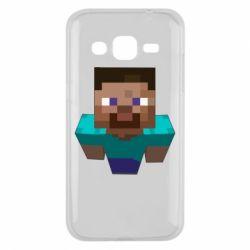 Чехол для Samsung J2 2015 Steve from Minecraft