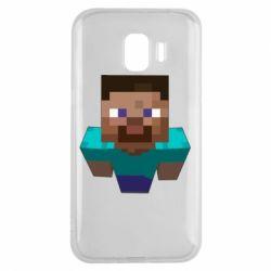 Чехол для Samsung J2 2018 Steve from Minecraft