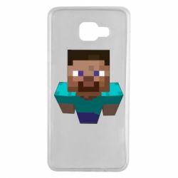 Чехол для Samsung A7 2016 Steve from Minecraft