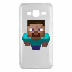 Чехол для Samsung J3 2016 Steve from Minecraft