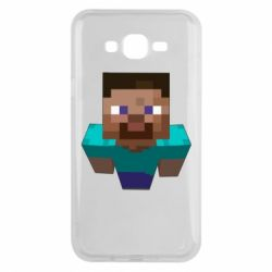 Чехол для Samsung J7 2015 Steve from Minecraft