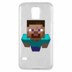 Чехол для Samsung S5 Steve from Minecraft