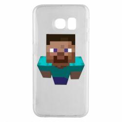 Чехол для Samsung S6 EDGE Steve from Minecraft