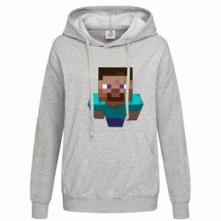 Женская толстовка Steve from Minecraft - FatLine