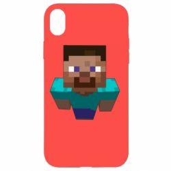 Чехол для iPhone XR Steve from Minecraft