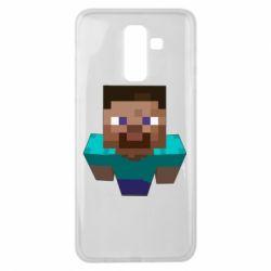 Чехол для Samsung J8 2018 Steve from Minecraft