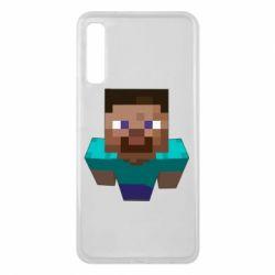 Чехол для Samsung A7 2018 Steve from Minecraft