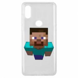 Чехол для Xiaomi Mi Mix 3 Steve from Minecraft
