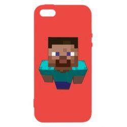 Чехол для iPhone5/5S/SE Steve from Minecraft