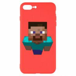 Чехол для iPhone 8 Plus Steve from Minecraft