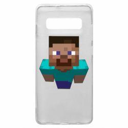 Чехол для Samsung S10+ Steve from Minecraft