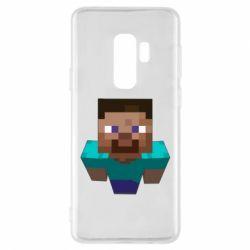 Чехол для Samsung S9+ Steve from Minecraft