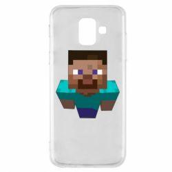 Чехол для Samsung A6 2018 Steve from Minecraft