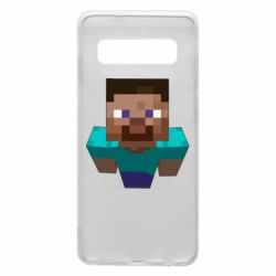 Чехол для Samsung S10 Steve from Minecraft