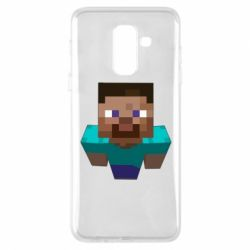 Чехол для Samsung A6+ 2018 Steve from Minecraft