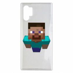 Чехол для Samsung Note 10 Plus Steve from Minecraft