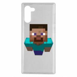 Чехол для Samsung Note 10 Steve from Minecraft