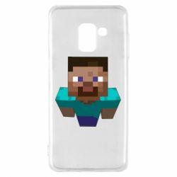 Чехол для Samsung A8 2018 Steve from Minecraft