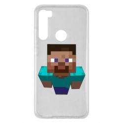 Чехол для Xiaomi Redmi Note 8 Steve from Minecraft