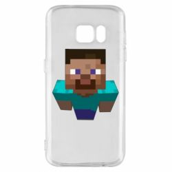 Чехол для Samsung S7 Steve from Minecraft