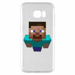Чехол для Samsung S7 EDGE Steve from Minecraft