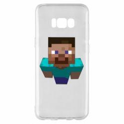 Чехол для Samsung S8+ Steve from Minecraft