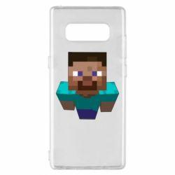 Чехол для Samsung Note 8 Steve from Minecraft