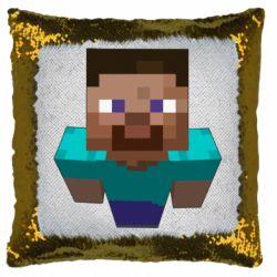 Подушка-хамелеон Steve from Minecraft